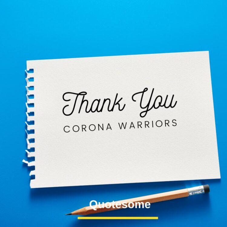 Thank You corona warriors